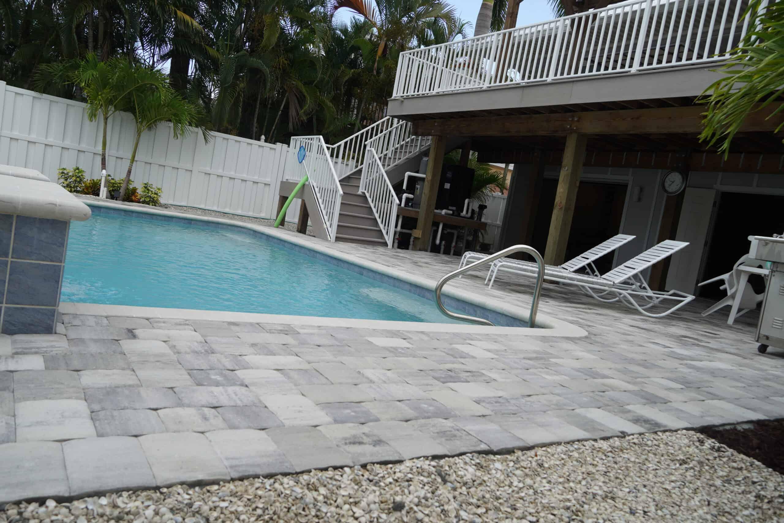 Naples Pool Patio Paver Installation A