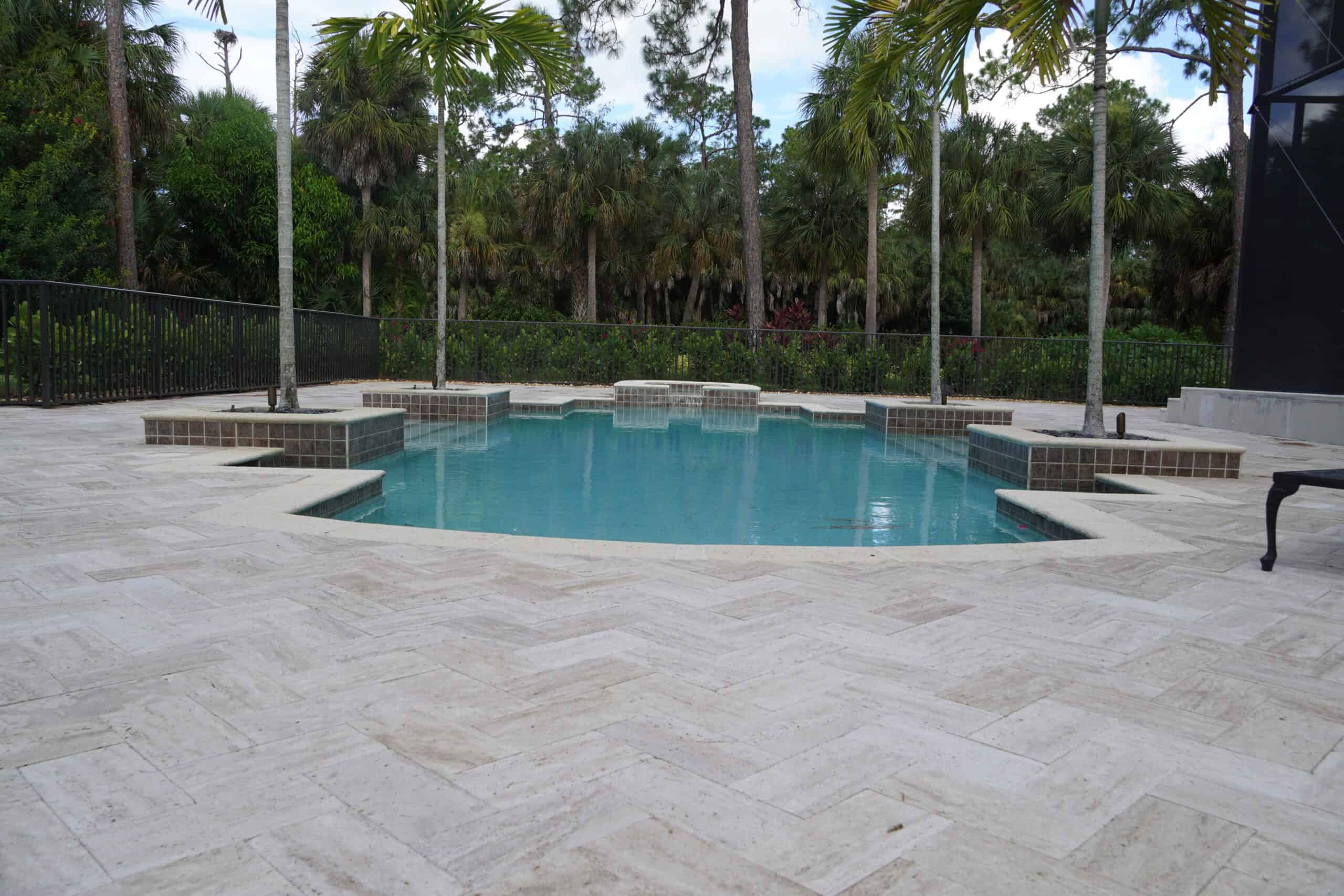 Naples Travertine Pool Deck