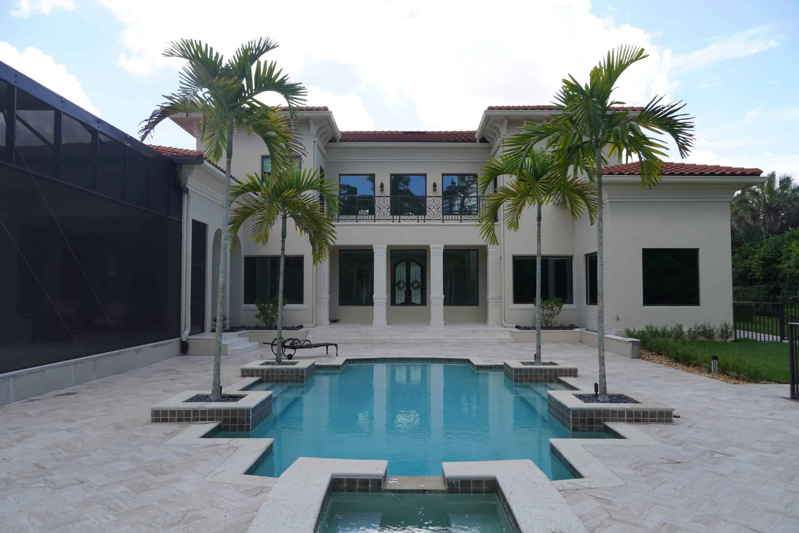 Naples Florida Travertine Pool Deck