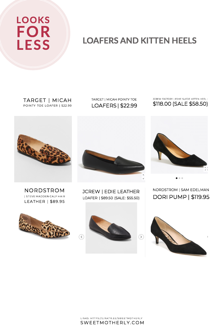 Looks for Less: Loafers and Kitten Heels