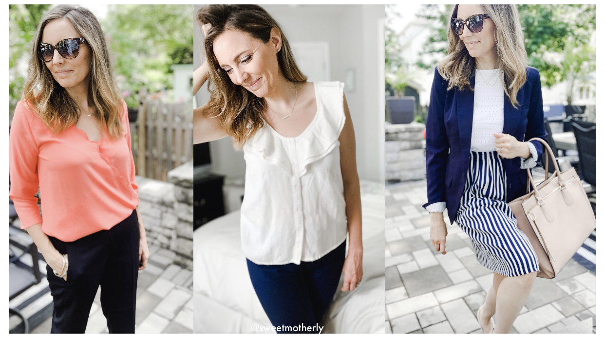 Weekly Work Wardrobe: Over 15 New Outfits + THE Must Have Elastic Waist Work Pants!