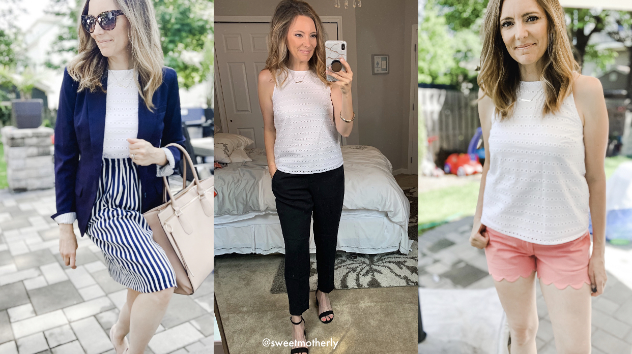 One Affordable Eyelet Top, 3 Ways to Wear It