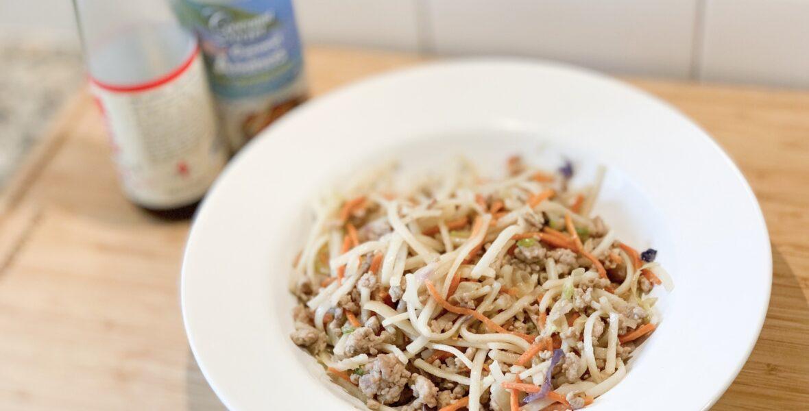 Ginger Garlic Pork Noodles