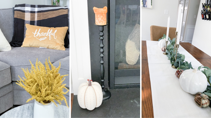 Modern Farmhouse:  Affordable Fall Decorations