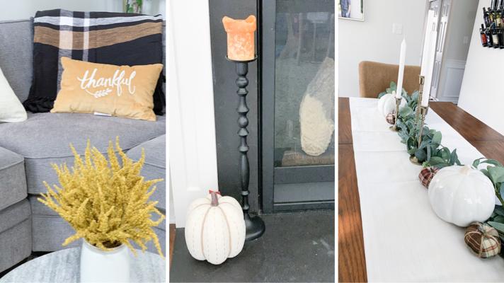 Modern Farmhouse:  Affordable Fall Decorations