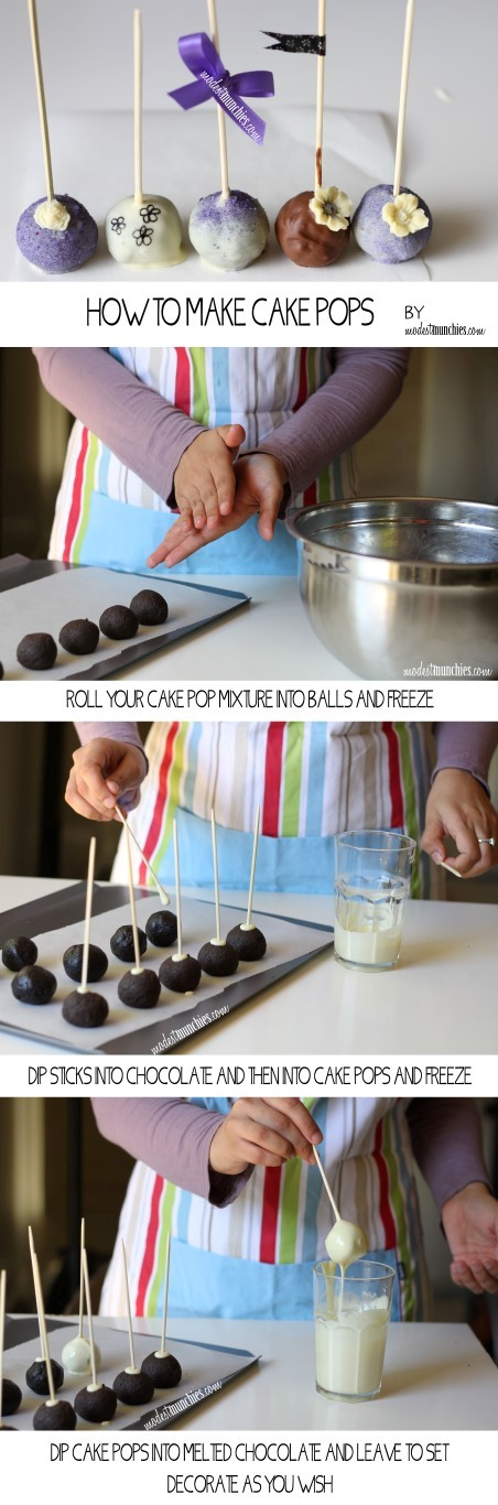 How to make cake pops graphic