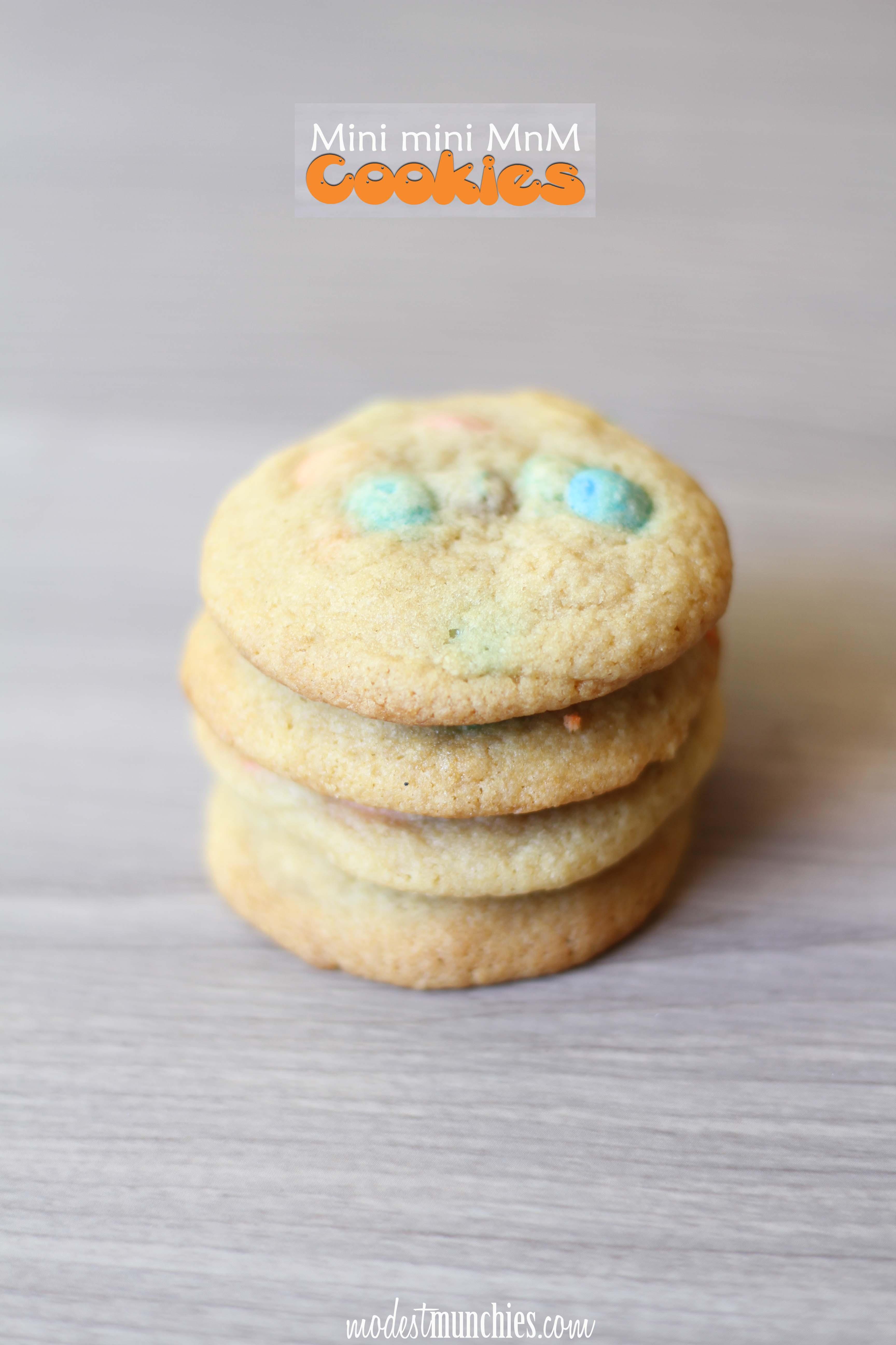Mini MnM cookies