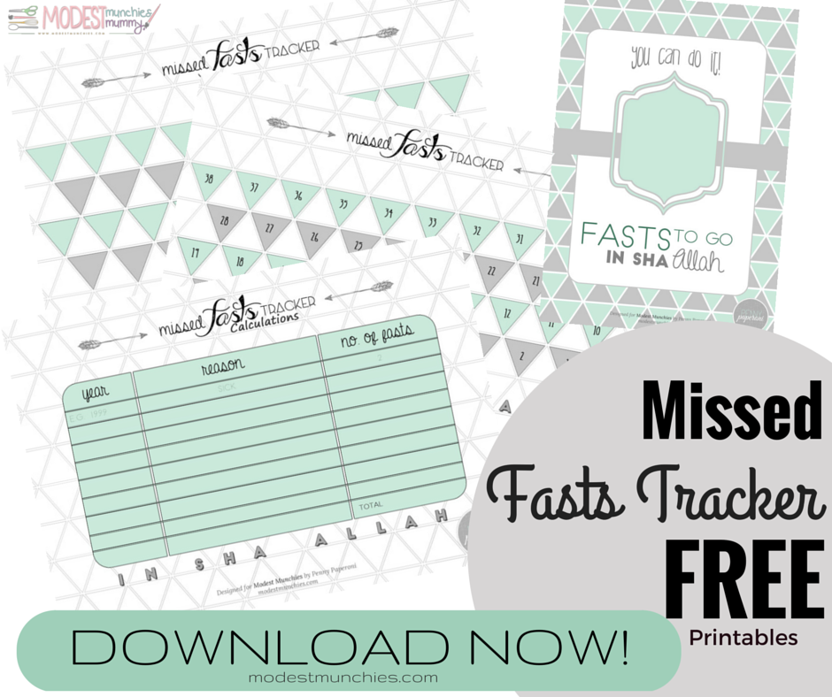 Missed Fasts Tracker Free Printables Download