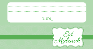 Eid Mubarak Printable Green (1)