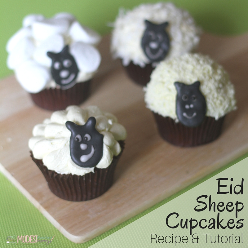 Eid Sheep Cupcakes