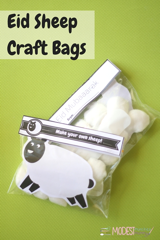 Eid Sheep Craft Printables