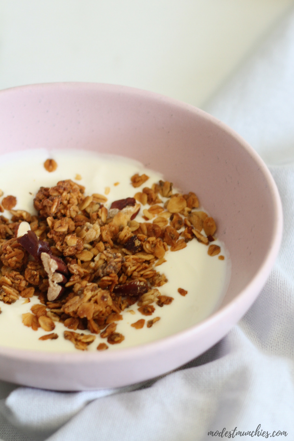 date and nut granola