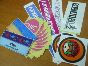 beautiful custom made paper sticker printing
