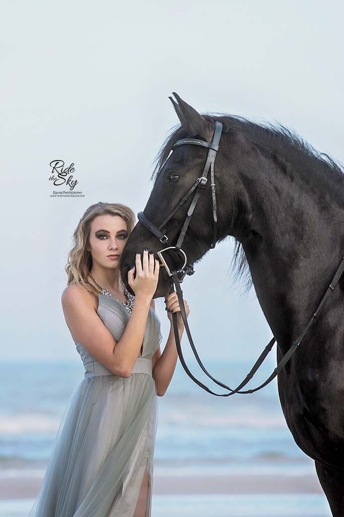 High School Senior Picture with Horse by Ride the Sky Equine Photography