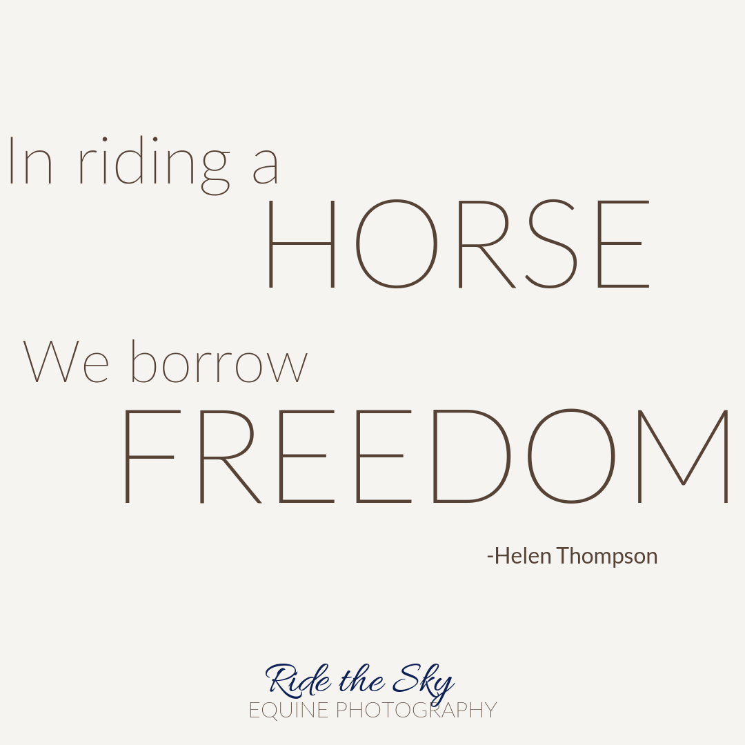 Horse Quote by Helen Thompson