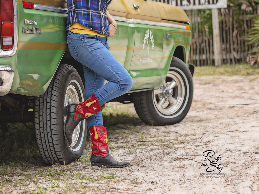Kira McCarty of Onsite Muse with her signature cowboy boots