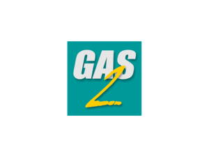 Square GAS2 logo on a green background