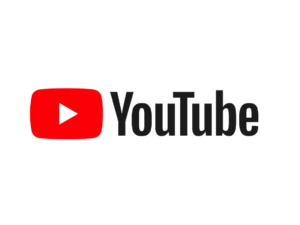 YouTube with their red and white play button