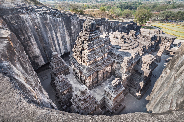 Kailas Temple in Ellora, Maharashtra state in India