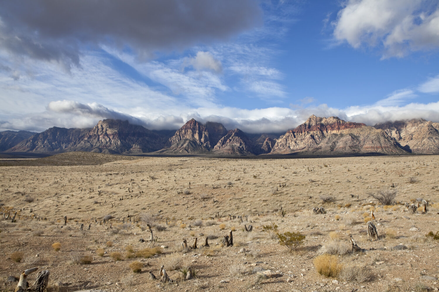 Spring storms roll over Red Rock National Conservation Area in Southern Nevada.