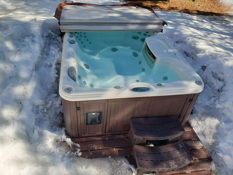 crystal clear hot tub after service