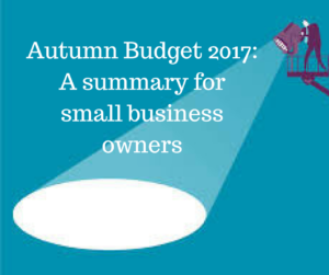 Autumn Budget 2017 for small business owners