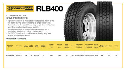 DoubleCoin RLB400 Specifications Sheet