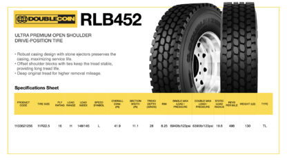 DoubleCoin RLB452 Specifications Sheet