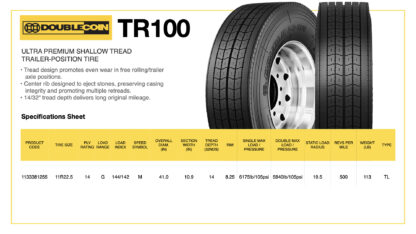 DoubleCoin TR100 Specifications Sheet
