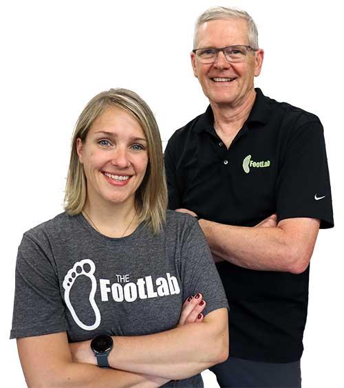 Brad and Katelyn, FootLab Techs