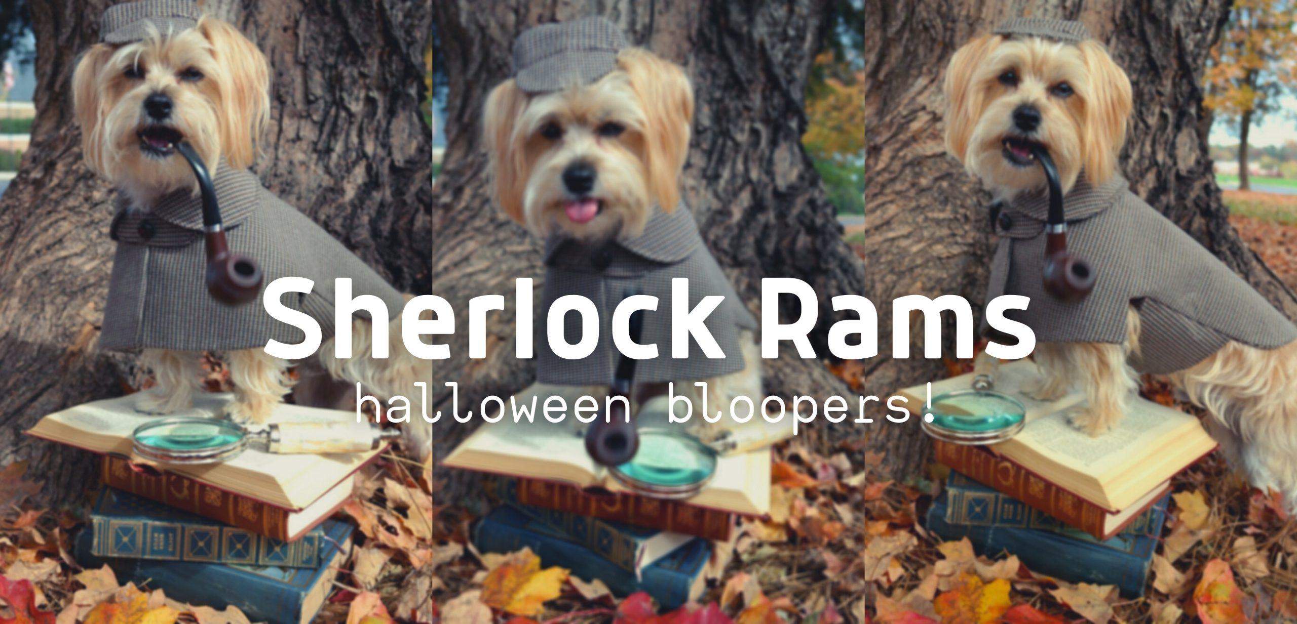 Sherlock Rams Halloween Bloopers!