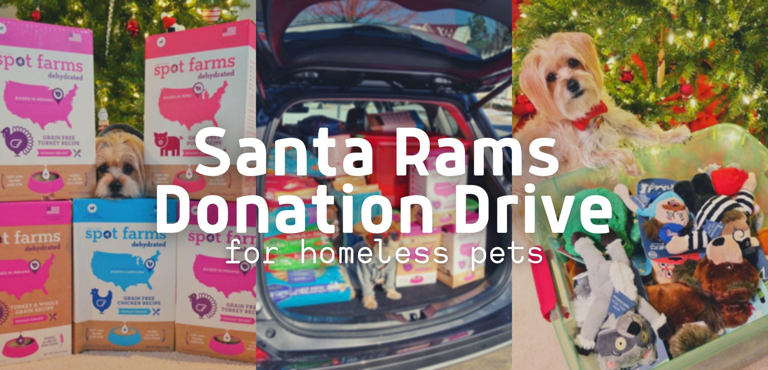 Santa Rams Donation Drive for Homeless Pets