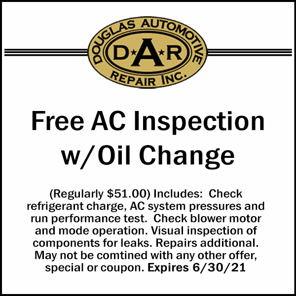 05-MAY 21 AC CK with Oil Change