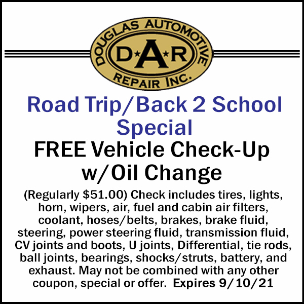 07-JUL 21 Free Check Over with Oil Change