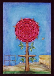 alchemical rose. Painting by John Eberly