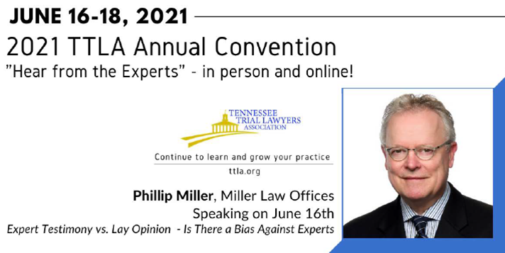 Trial Consultant speaks on Expert Witnesses at the TTLA conference in June