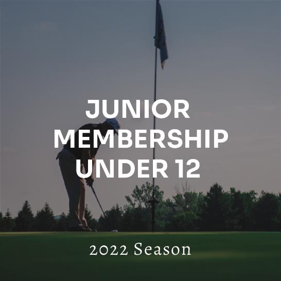Junior (Under 12) Membership - 2022