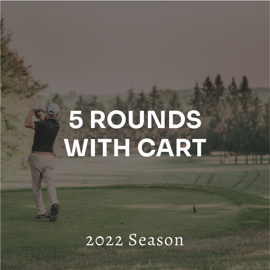 5 Rounds with Cart (Taxes-in)