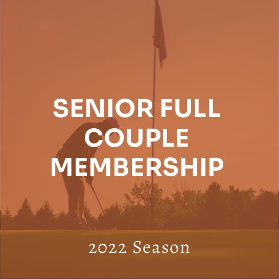 Senior (65+) Full Couple Membership - 2022