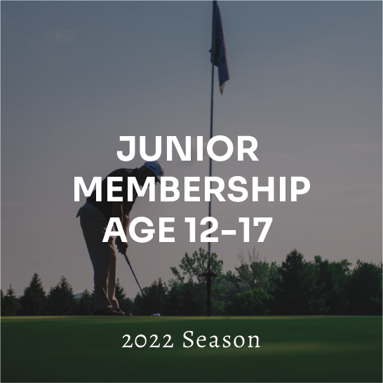 Junior (Age 12-17) Membership - 2022