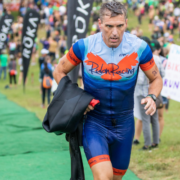 Triathlete uses wetsuit maintenance recommendations to take care of wetsuit.