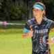 Triathlete competes on Kerrville Triathlon run course. Hurry and register as this year's event nears a sellout.