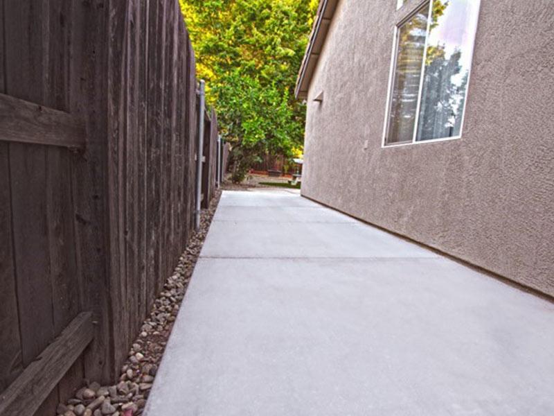side of home walkway