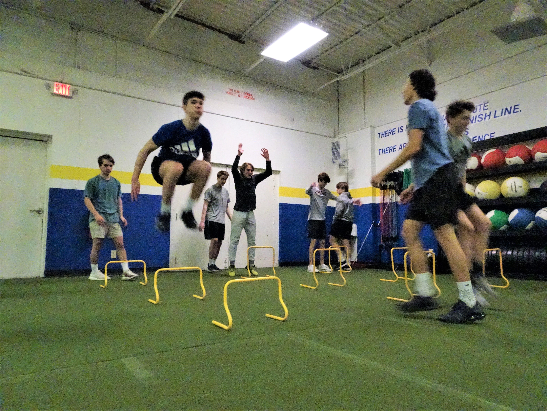 fsp athletes performing hurdle jumps