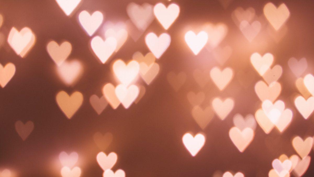heart bokeh light