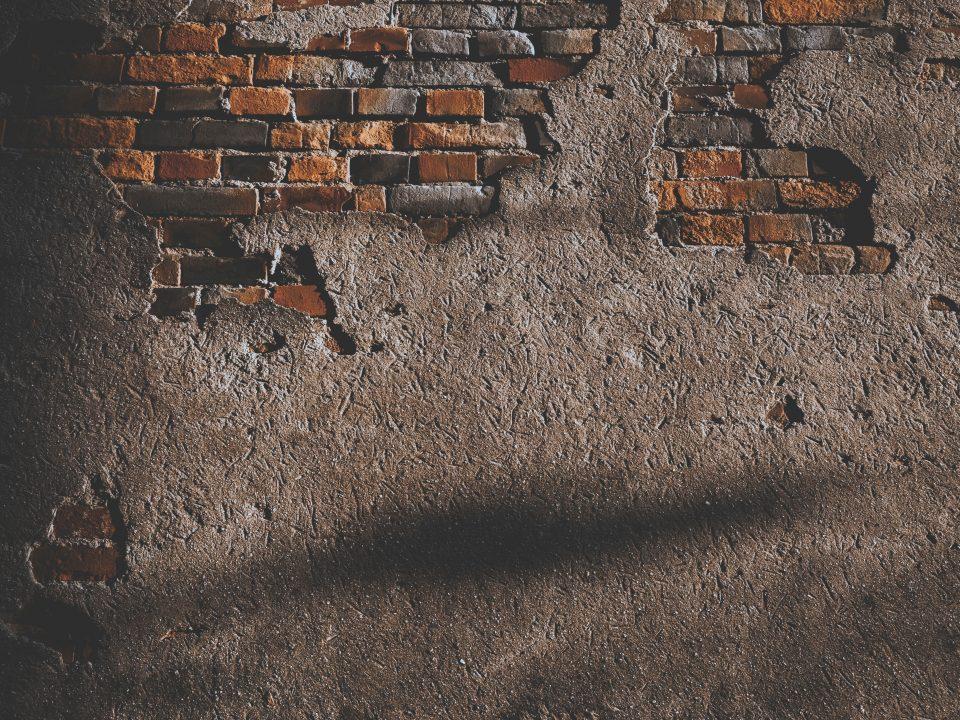 wall with broken bricks