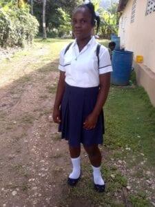 Teenage girl in a school uniform