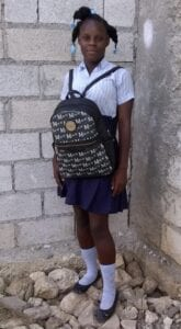 Girl with a school bag