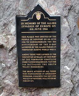 D-Day_plaque_detail,_High_Street,_Newport_-_geograph.org.uk_-_1607064