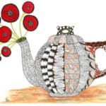 Read more about the article Zentangle Inspired Whimsical Tea Time Note Cards